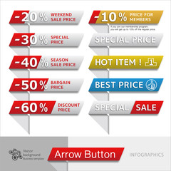 Infographic Vector Arrow Button #Sale Banner