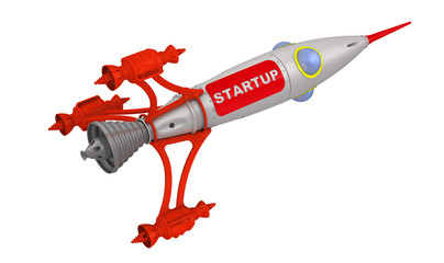 Запуск (startup). Надпись на космическом корабле