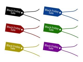 Black Friday Price Tag for Christmas Shopping Season