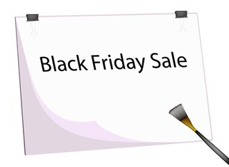 Clipboard and Paintbrush With Word Black Friday Sale