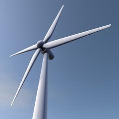 Windturbine van dichtbij