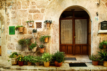 House in village Valldemossa in Mallorca, Spain