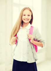 happy and smiling teenage girl