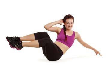 Frau beim Bauchtraining - Fitness