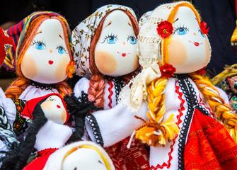 Handmade romanian dolls