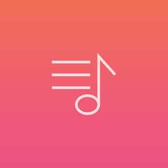 Music playlist  - Finely crafted line icons