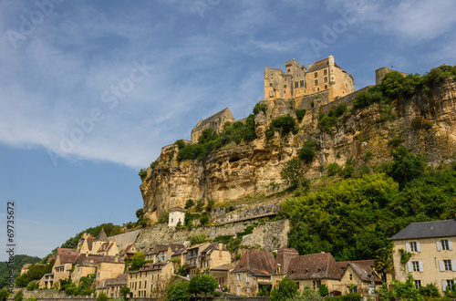 Beynac-et-Cazenac old castle and city on a cliff