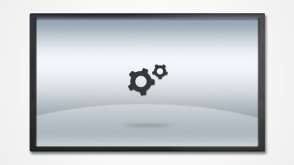 screen display with tools icon