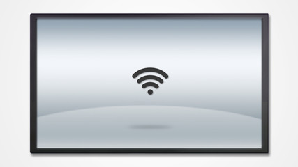 screen display with wifi icon