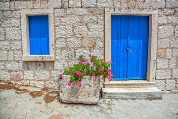 Old window and door