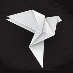White origami dove