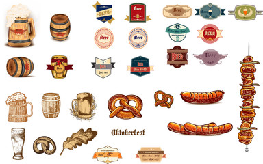 Design vector oktoberfest set