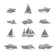 Boats Icons Set - 69737247