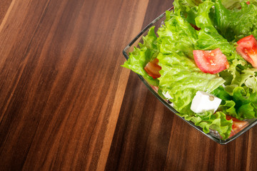 Mixed salat or vegetables, studio shot of a healthy food