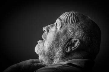 old man choking