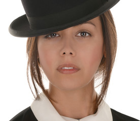 Young woman with Bowler hat
