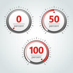 Round Analog Percent Meter