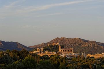 Mallorca, Blick auf Arta in der Abendsonne