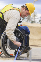 Construction supervisor with Spinal Cord Injury