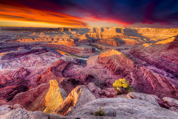 First Light at Dead Horse Canyon