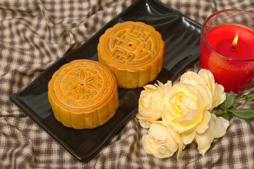 Chinese Moon cake,food for Chinese mid-autumn festival