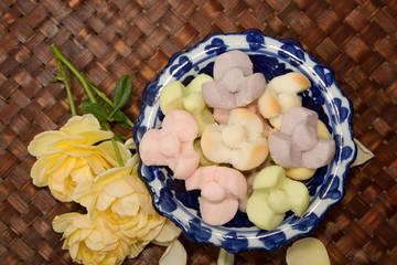 Thai Shortbread Cookies,Thai Snack and Dessert