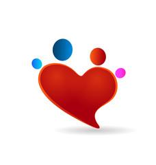 Family heart union vector icon illustration logo