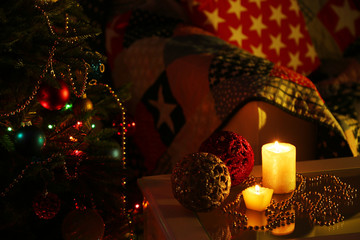 Cozy Christmas composition