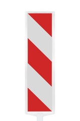 Road traffic works safety pole post barrier, vertical panel