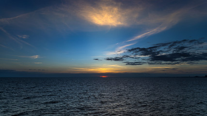 Sunset seascape at Samed island