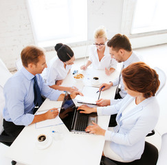 business team having meeting in office