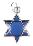 Star David pendant isolated on white