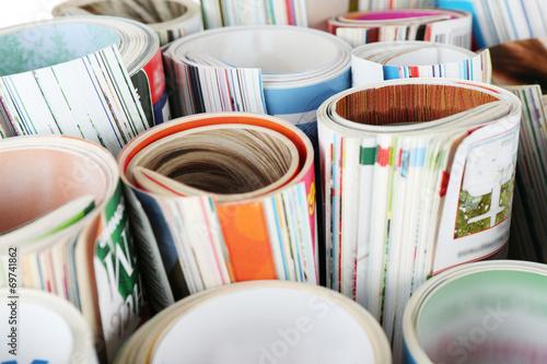 Many magazines close up © Africa Studio