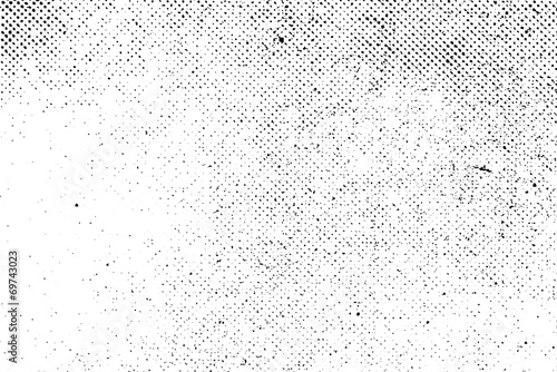 Grunge real organic vintage halftone vector ink print background - 69743023