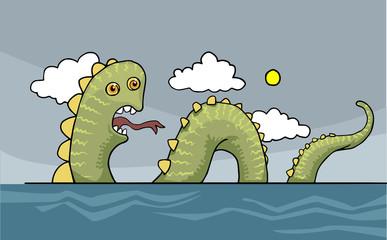 Funny sea snake, dragon