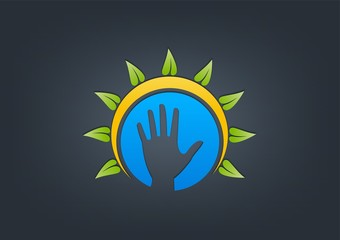 logo Natural helping hand