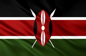 The National Flag of kenya