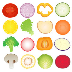 Vegetables Slice Set