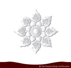 vector Thai ornament design card paper 3D natural
