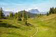 The mountain trail in Alps near from Saint-Gervais-les-Ba - 69746832