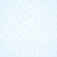 Concept seamless pattern with snowflakes.