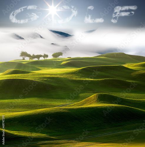 Foto op Plexiglas Beijing sunset in the mountains landscape