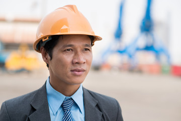 Manager in hardhat