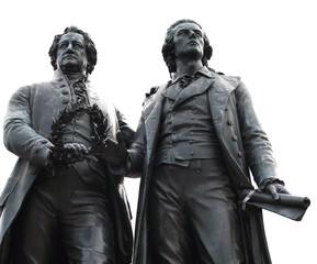 Goethe and Schiller Memorial at Weimar Germany
