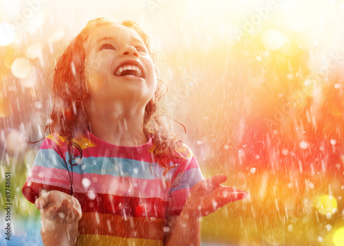 canvas print picture autumn rain