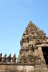 Stupa in Prambanan temple on Java, Indonesia