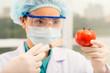 Injecting tomato