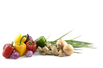 Display of numerous vegetables.