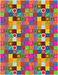 abstract vector patchwork background
