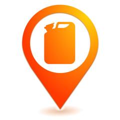jerrican sur symbole localisation orange